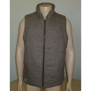 Publish Wool Blend Insulated Brown Vest NWT Medium